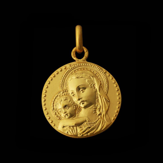 Gold Virgin Pendant