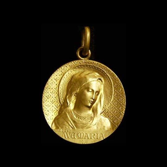 virgin mary gold pendant