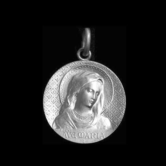 virgin mary silver pendant