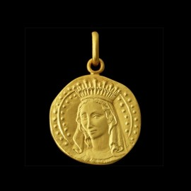 virgin mary gold pendant