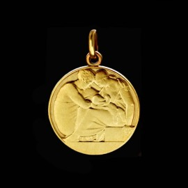 Holy family medallion