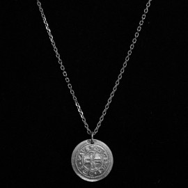 Silver filed trace chain n°2 for Ø 18-23mm