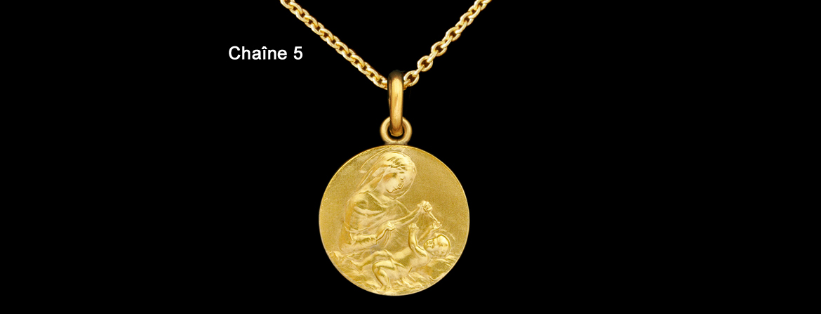 Gold round trace chain size n°5