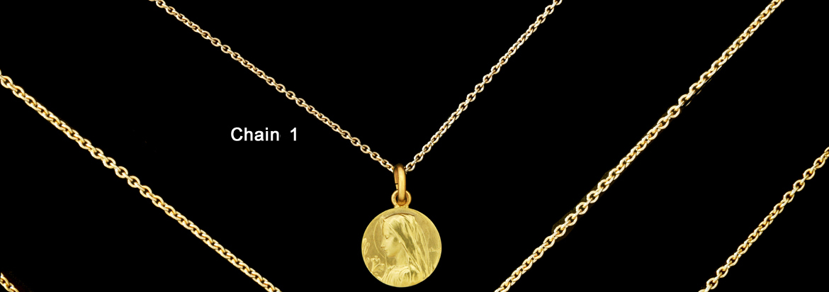 Gold round trace chain size n°1