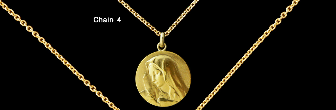 Gold round trace chain size n°4