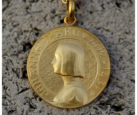 18k Gold St Joan of Arc Medal Pendant ★Made in France ★