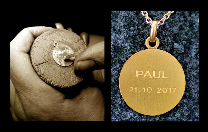 Handmade Engraved medallion pendant